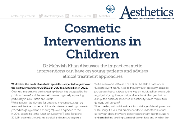 Cosmetic  Interventions in  Children